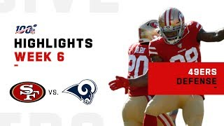 49ers Defense Dominates vs. Rams | NFL 2019 Highlights