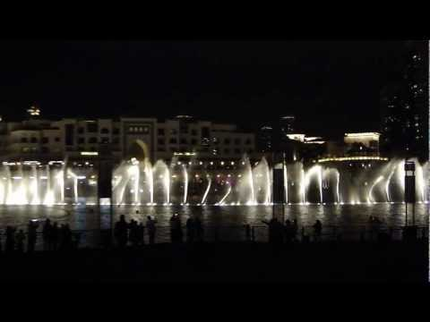 Burj Khalifa fountains - Dubai UAE  Time to Say Goodbye