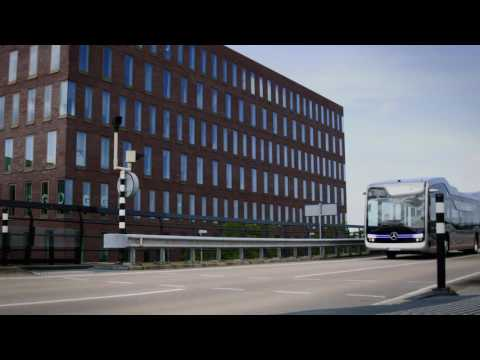 Mercedes-Benz Future Bus - Tunnel driving & bus stop recognition