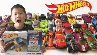 Unboxing Super Track Builder Hot Wheels Cars Toys Collection || Car Toys Videos for Kids