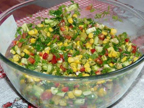 """Постный салат быстрого приготовления """"Радуга"""" Постные салаты рецепты.Салаты"""