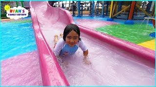 Water Parks for Kids and Splash Pads with Ryan's Family Review!
