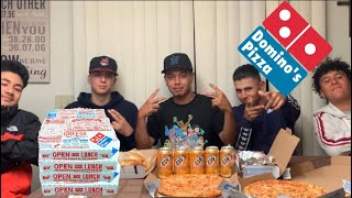 DOMINOS PIZZA & WINGS MUKBANG |Q&A/STORY TIME