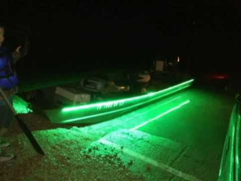 Green river fishing report geeking out with too much for Boat lights for night fishing