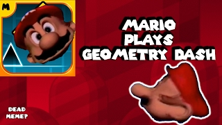 Mario plays Geometry Dash