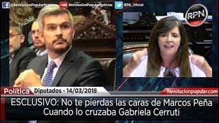 EXCLUSIVO: Las caras de Peña mientras lo interpelaba Gabriela Cerruti