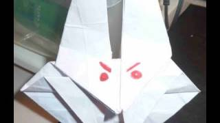 How To Make Bunny Rabbit Monster Origami ウサギ怪物折り紙 Conejo Monstruo 班尼怪物