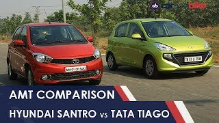 Hyundai Santro AMT vs Tata Tiago AMT: Comparison Review