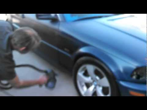 BMW 328 Plasti Dip Whole Car (Blue to Matte Black)