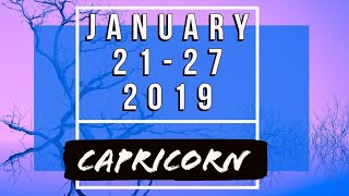 CAPRICORN ♑ Weekly Tarot 21-27 January 2019 •||•