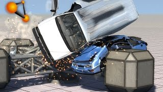 BeamNG.Drive Mod : Large Spinner Car Crasher (Crash test)