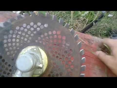 Нож мотокосы не косит даже с заточкой - исправляем