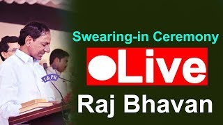 KCR Swearing in Ceremony || Raj Bhavan || LIVE || KCR || TRS Party | TopteluguMedia