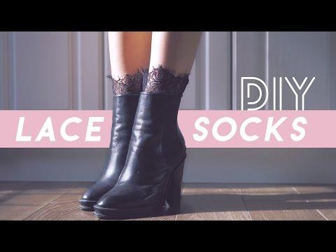 ✂ DIY Lace Trim Socks