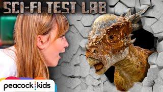 Robotic Dinosaur Stiggy CRUSHES Cement Wall   SCI-FI TEST LAB presented by Jurassic World