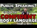 Frame from Stand With Confidence! 3 Essential Tips on Body Language #PublicSpeaking