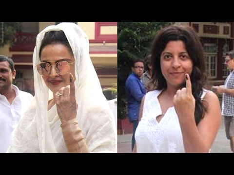 What! Rekha and Zoya Akhtar show the finger | BMC elections