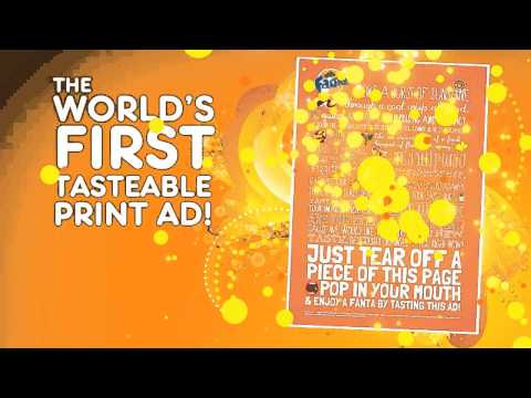 Fanta - The World s First Tastable Print AD!