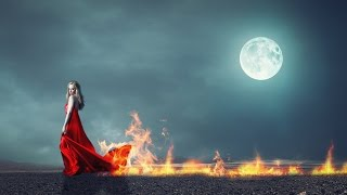 Fire in moonlight photo manipulation | photoshop tutorial cc
