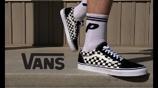 Buy Checkerboard Vans Old Skool On Feet