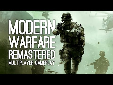 Modern Warfare Remastered Multiplayer Gameplay - CRASH, OVERGROWN, BACKLOT
