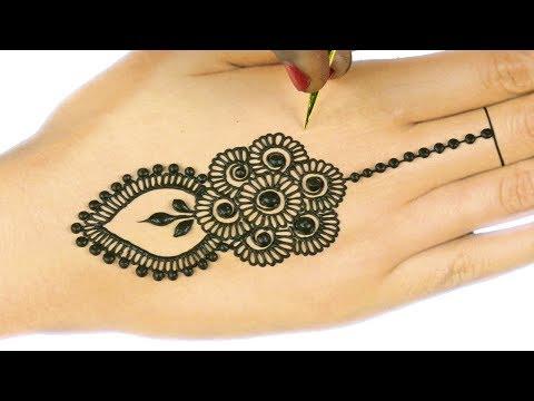 Learn Easiest Henna Mehndi Design   Step by Step Mehendi Designs for Hands #66 @ jaipurthepinkcity
