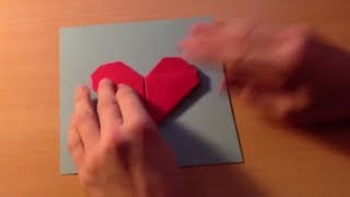 Fabriquer Une Carte Avec Un Coeur En Origami - Astuce Pliage Papier