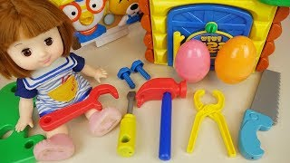 Tool and house making Baby doll surprise eggs toys play
