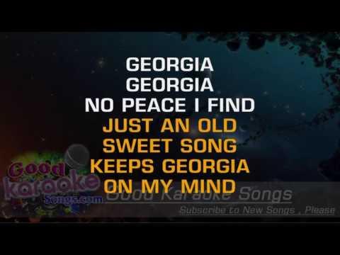 Georgia On My Mind - Ray Charles ( Karaoke Lyrics )