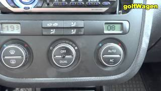 VW Golf 5, Passat B6  hidden service menu - how to access -fun with hidden menu