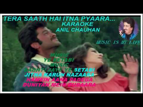 TERA SAATH HAI KITNA PYAARA-FULL KARAOKE WITH SCROKKING LYRICS