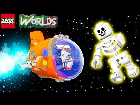 LEGO Worlds Видео для детей про героев Лего летаем на ракете ездим на машинах в огромном мире ЛЕГО 2