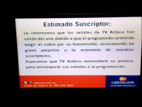 TV AZTECA SALE DEL AIRE EN CABLECOM.mp4