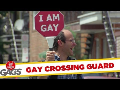 Gay Crossing Guard Prank