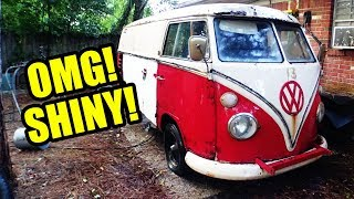 1967 VW Bus Gregory Gets a Bath!  SHINY! - 3