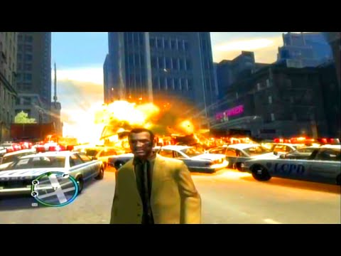 Grand Theft Auto 4 Most Cops/Greatest Explosion Ever Video