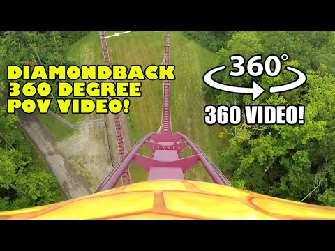Diamondback Roller Coaster 360 Degree POV Kings Island Ohio