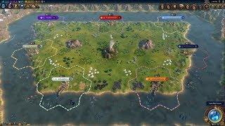 Civ 6 AI Only Timelapse: Volcanic Battle