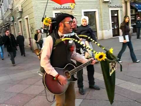 Amazing One-Man-Band Street Performer in Croatia (Cigo Man Band) Music Videos