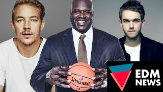 Diplo working with Shaquille O'Neal, Calvin Harris new Residency, Zedd spotted Flirting | EDM NEWS
