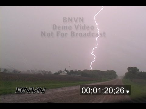 6/7/2005 Vivid Lightning Stock POV Footage while driving
