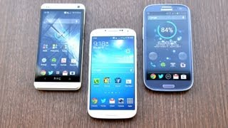 Samsung Galaxy S4 vs HTC One vs Galaxy S3 Speed Test!