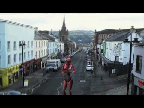 A sneak preview of a robot on Carlisle Road Derry City. This is a 19ft prototype built in Dungiven Co Derry by Tourist Solutions.With a Derry City FC logo on...