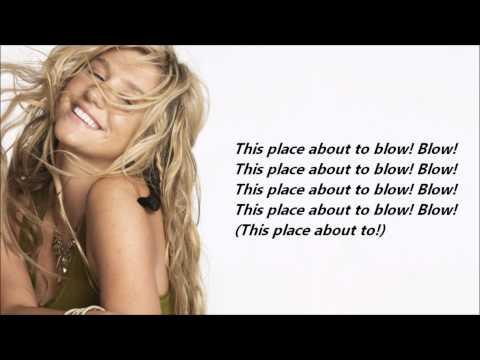 Ke$ha - Blow /\ Lyrics On A Screen