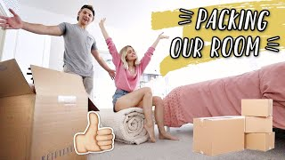 PACKING OUR BEDROOM! MOVING VLOGS!