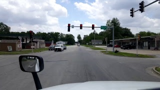 BigRigTravels LIVE! - Mattoon to Olney, Illinois Backroads Scenery - May 18, 2017