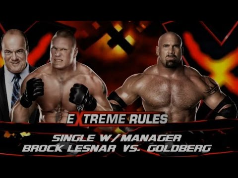 Goldberg Vs Brock Lesnar - Extreme Rules Wwe2k14 video