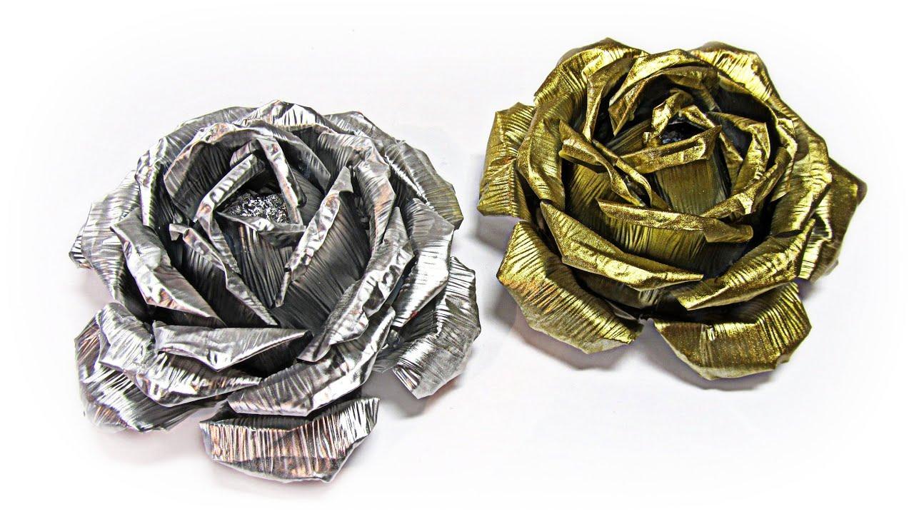 Цветы из фольги. Мастер-класс с пошаговым фото 67