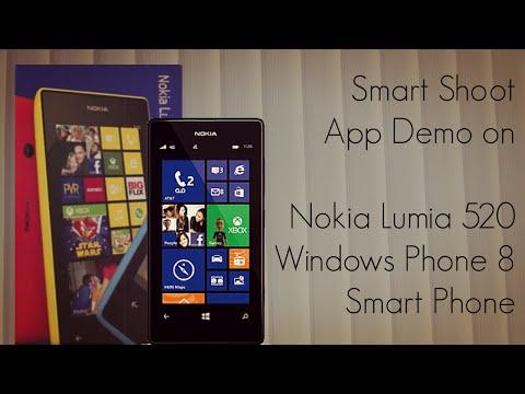 Smart Shoot App Demo on Nokia Lumia 520 Windows Phone 8 Smart Phone