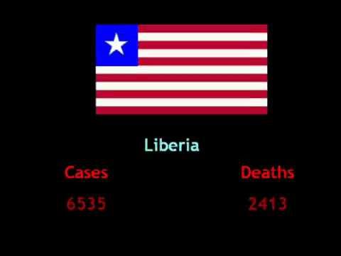 Ebola cases and death toll